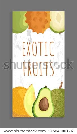 exotique · juteuse · fruits · vecteur · isolé · affiche - photo stock © robuart