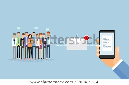 Electronic Letter, Email and Person, Sms Vector Stock photo © robuart