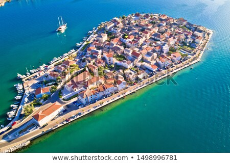 Split suburb Vranjic island aerial view Stock photo © xbrchx