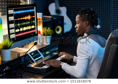 touches · Homme · affaires · ordinateur - photo stock © pressmaster