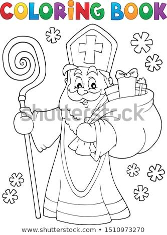 Coloring book Saint Nicholas topic 2 Stock photo © clairev