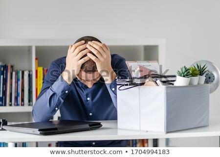 állás · vállalati · alkalmazott · tart · kartondoboz · főnök - stock fotó © elnur