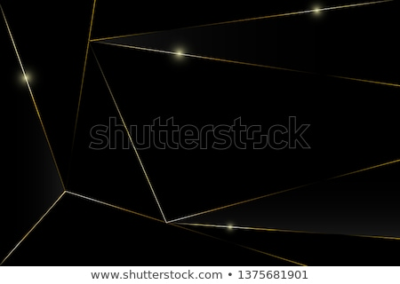 Czarny marmuru złoty ramki projektu Zdjęcia stock © SArts