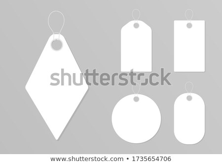 Label Paper Material Hanging On Rope Color Vector Stock photo © pikepicture