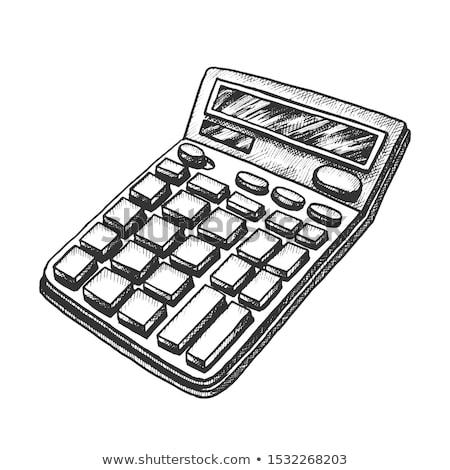calculator stationery equipment monochrome vector stock photo © pikepicture