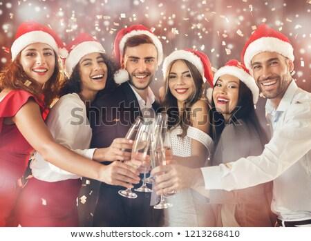 рук молодые друзей флейты шампанского Сток-фото © pressmaster