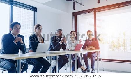 Treinamento reunião profissionais negócio reunir vetor Foto stock © robuart