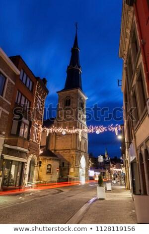 Церкви рассвета регион Бельгия небе город Сток-фото © benkrut