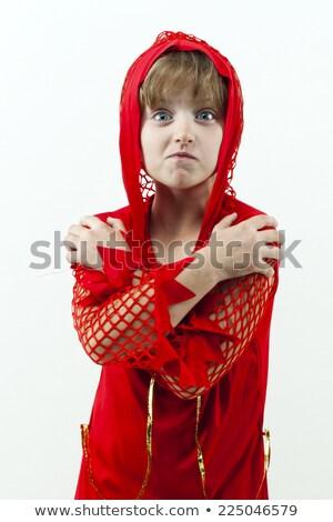 Ragazza diavolo costume immagine donna vestiti Foto d'archivio © clairev