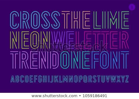 Lineare geometrica contorno alfabeto lettera semplice Foto d'archivio © kyryloff