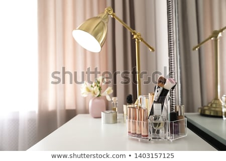 Cosmetics, makeup products on dressing vanity table, lipstick, f Stock photo © Anneleven