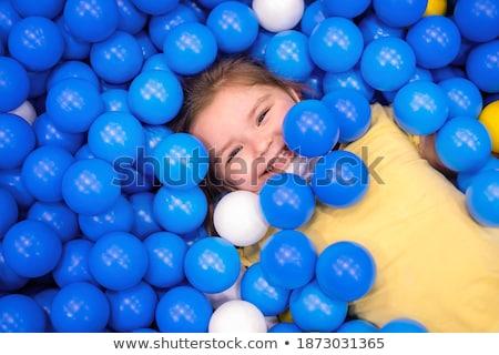 Fille jouer aire de jeux sport Photo stock © galitskaya
