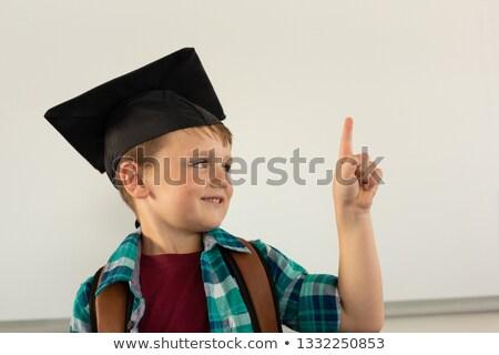 Ver feliz caucasiano menino graduação Foto stock © wavebreak_media