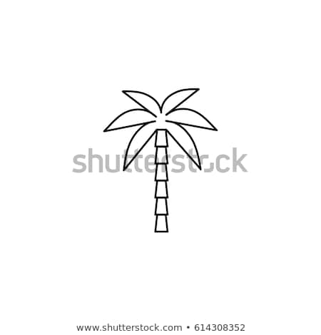 Palma line ikona wektora obraz obiektu Zdjęcia stock © smoki