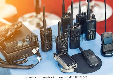 Draagbaar radio schets icon knop telefoon Stockfoto © smoki