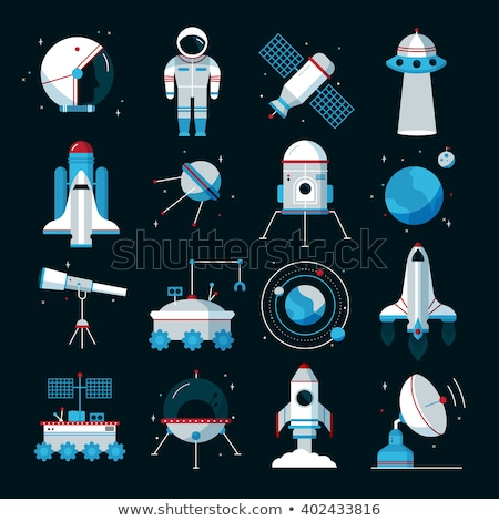 Astronaut Equipment Collection Icons Set Vector Stock photo © pikepicture