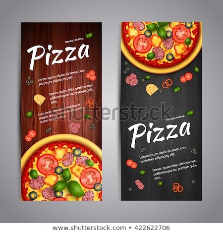 Pizza Italian Recipes Restaurant Banner Vector Stock photo © pikepicture