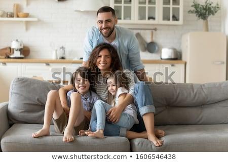 Adorabil afectuos băieţi fată împreună joacă Imagine de stoc © pressmaster