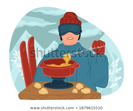 Man Leading Active Lifestyle, Skiing Character Stock photo © robuart