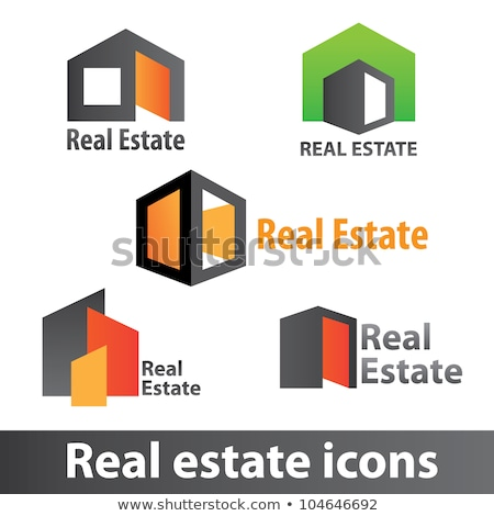 Real estate icons, property and investment - apartment buildings Stock photo © gomixer