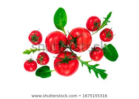 Alimentação saudável fresco vermelho tomates cereja gotas orvalho Foto stock © vkstudio