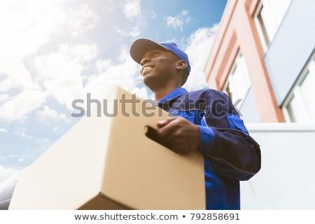 Professionnels van courrier livraison enlèvement camion Photo stock © AndreyPopov