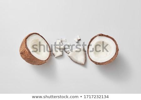 Vruchten ingesteld vers rijp kokosnoten licht Stockfoto © artjazz