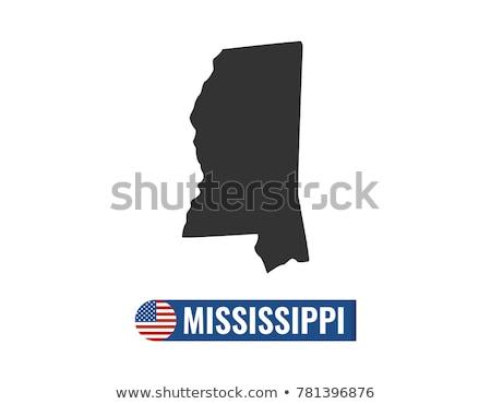 Vektör ayarlamak bayraklar amerikan Mississipi farklı Stok fotoğraf © butenkow