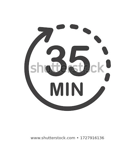 Trinta cinco cronômetro simples preto Foto stock © evgeny89