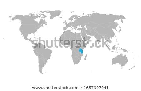 Tanzânia país silhueta bandeira isolado branco Foto stock © evgeny89