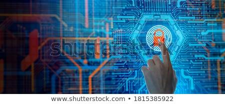 Támadás üzletember néz képernyő szöveg üzlet Stock fotó © AndreyPopov
