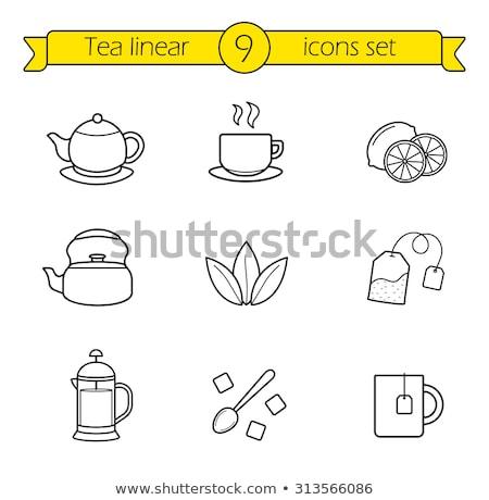 Tasse thé icône vecteur Photo stock © pikepicture