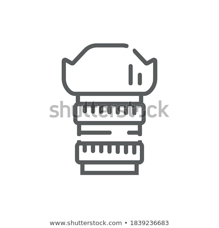 lens on finger icon vector outline illustration Stock photo © pikepicture