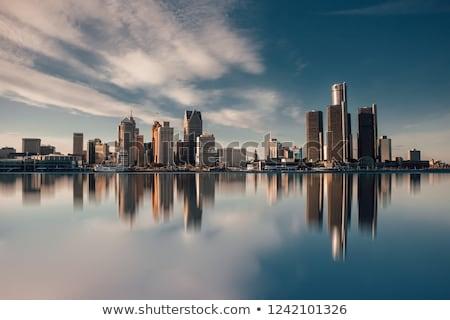 Detroit ver ponte Estados Unidos Canadá Foto stock © vladacanon