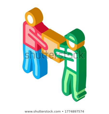 Transfer and Issue of Parcel isometric icon vector illustration Stock photo © pikepicture