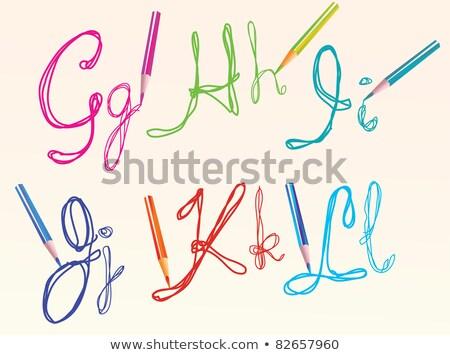 colore · mano · disegno · lettere · design · colorato - foto d'archivio © Elmiko