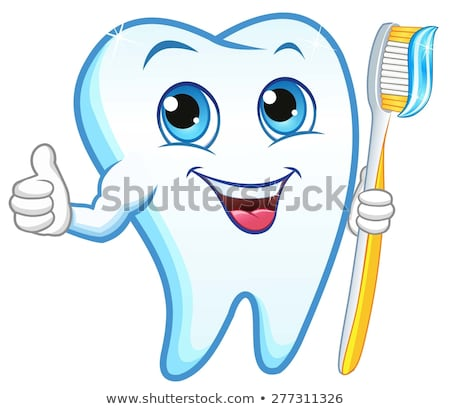 happy teeth with tooth paste Stock photo © get4net