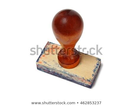 Old Wooden Rubber Stamp Stock fotó © ajt