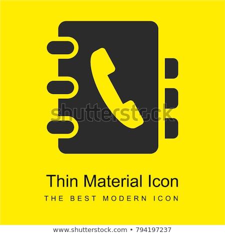 Wektora żółty telefonu książki ikona szczegółowy Zdjęcia stock © tele52