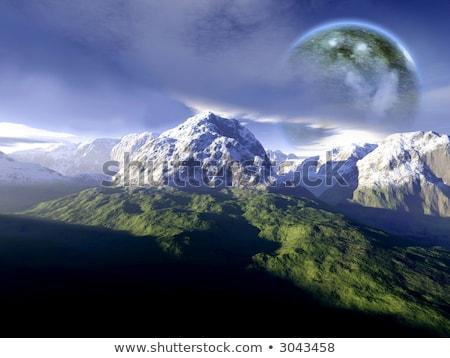 exóticas · mundo · cielo · espacio · azul - foto stock © spectral