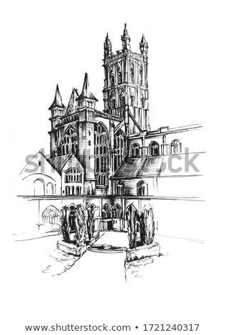Katedrális torony kastély történelem vallás stílus Stock fotó © vrvalerian