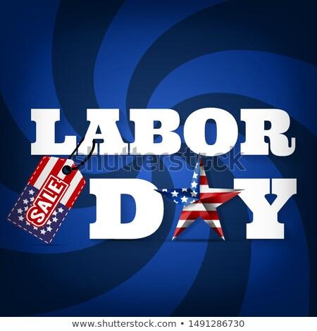американский патриотический вихревой красный белый синий Сток-фото © Balefire9