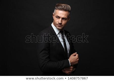 肖像 ビジネスマン グレー スーツ 白 顔 ストックフォト © RuslanOmega