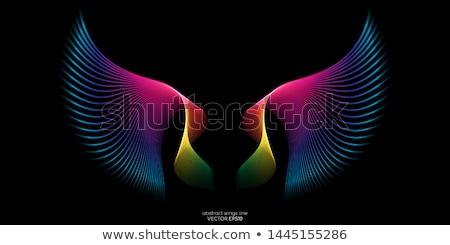 Symmetrie ruimte abstract vak digitale bewegende Stockfoto © CaptureLight