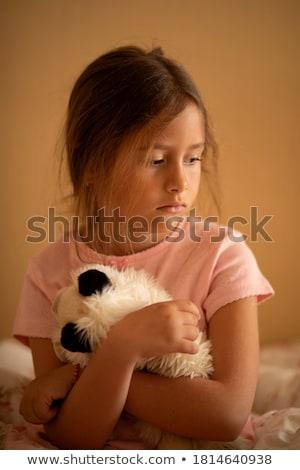 portret · jonge · vrouw · zachte · speelgoed - stockfoto © HASLOO