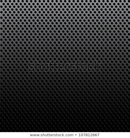 perforé · surface · métallique · modèle · métal · gris · surface - photo stock © ecelop