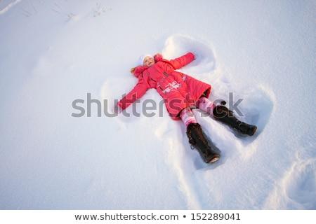 Kid · снега · ангела · счастливым · ребенка - Сток-фото © nobilior