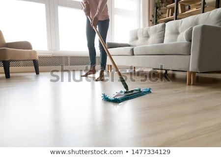 Stock photo: Wooden laminated floor