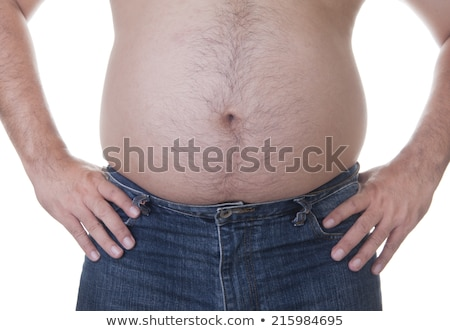 belly of a corpulent man Stock photo © prill