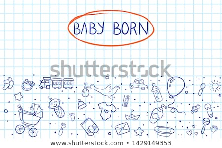 Aranyos babák absztrakt művészi terv Stock fotó © indiwarm
